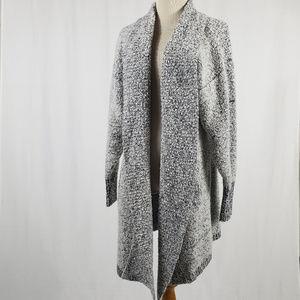 VINTAGE Black & White Heathered Sweater
